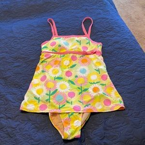 Lilly Pulitzer floral swimsuit. EUC